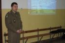 Spotkanie z uczniami prowadził st. chorąży Aleksander Lambarski