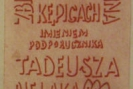 Projekt tablicy pamiątkowej, którą zaprojektował i wykonał w brązie plastyk Andrzej Lejszys - Litwin, przebywający okresowo u kuzyna w Kępicach. 1980 r.
