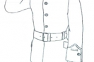 Kadet w mundurze galowym